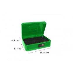 Φορητό Χρηματοκιβώτιο - Ταμείο Συνδυασμού Arte Πράσινο TS0027G 24.5x17x8.5 εκ.
