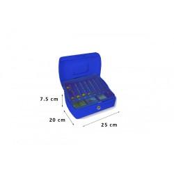 Φορητό Χρηματοκιβώτιο - Ταμείο Arte Μπλε TS0508 25x20x7.5 εκ.