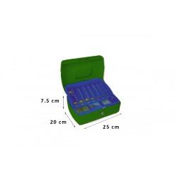 Φορητό Χρηματοκιβώτιο - Ταμείο Arte Πράσινο TS0508 25x20x7.5 εκ.