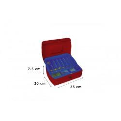 Φορητό Χρηματοκιβώτιο - Ταμείο Arte Κόκκινο TS0508 25x20x7.5 εκ.