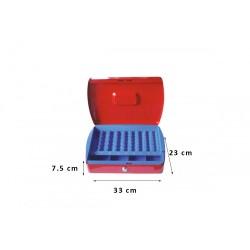 Φορητό Χρηματοκιβώτιο - Ταμείο Arte Κόκκινο TS0608 33x23x7.5 εκ.