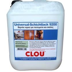 Οικολογικό Βερνίκι Πατωμάτων Βάσης Νερού CLOU 9200 5L Διάφανο Γυαλιστερό