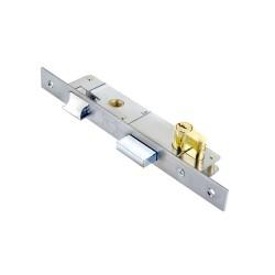 Κλειδαριά Domus ABBA 20άρα 30120 Χρώμιο, με κύλινδρο 54χιλ. brass
