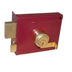 Κουτιαστή Κλειδαριά Ασφαλείας Domus Abba 36050L Αριστερή Κόκκινη