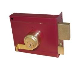 Κουτιαστή Κλειδαριά Ασφαλείας Domus Abba 36050R Δεξιά Κόκκινη