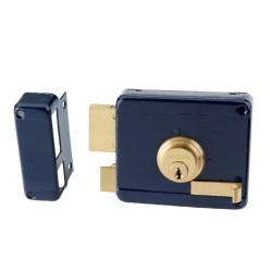 Κουτιαστή Κλειδαριά Ασφαλείας Domus 96250L Αριστερή Μπλε με Αντίκρυσμα