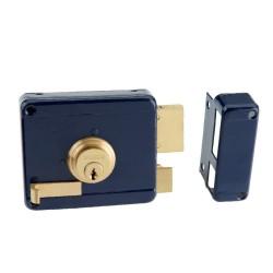 Κουτιαστή Κλειδαριά Ασφαλείας Domus 96250R Δεξιά Μπλε με Αντίκρυσμα