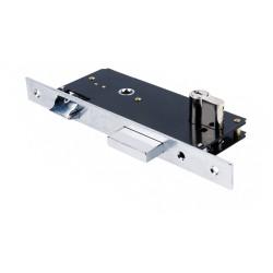 Κλειδαριά Ασφαλείας Domus Export 90845CR 45άρα Χρώμιο τετράγωνη για Ξύλινη Πόρτα + Κύλινδρος Domus Απλός 65άρης