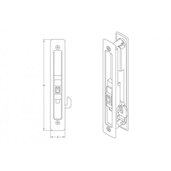 Domus Kliklok Lock For Sliding Aluminum Doors White 7610L