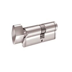 Κύλινδρος Ασφαλείας Domus Econ 21060KH 60άρης (30-30) nickel με πόμολο από την μία πλευρά