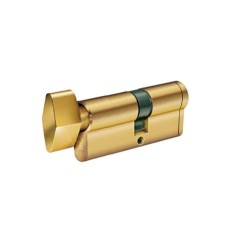 Κύλινδρος Ασφαλείας Domus Econ 21060H 60άρης (30-30) brass με πόμολο από την μία πλευρά