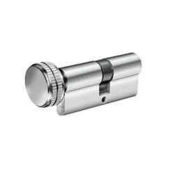 Κύλινδρος Υψηλής Ασφαλείας Domus Alfa 24065KH 65άρης (30-35) nickel με πόμολο από την μικρή πλευρά