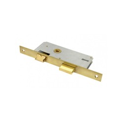 Κλειδαριά Μεσόπορτας Domus 8094B με Κέντρα 40-90 Τετράγωνη με Πρόσωπο και Αντίκρισμα Χρυσό