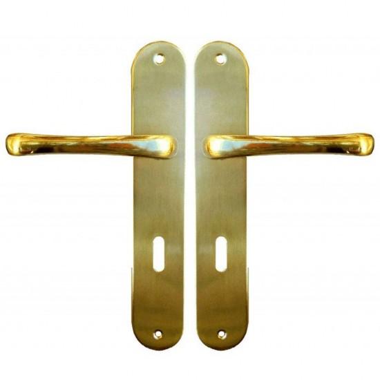 Πόμολο Πόρτας Import Hellas 215 Πλάκα Χρυσό Ζεύγος