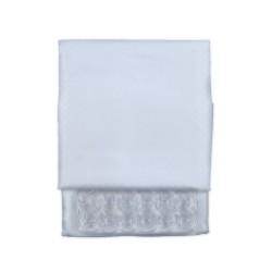 Κουρτίνα Μπάνιου Υφασμάτινη  Λευκή (Αδιάβροχη-Πλένεται-Σιδερώνεται) 180 (Φ) x200 (Υ)