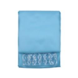 Κουρτίνα Μπάνιου Υφασμάτινη  Μπλέ (Αδιάβροχη-Πλένεται-Σιδερώνεται) 180 (Φ) x200 (Υ)