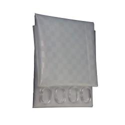 Κουρτίνα Μπάνιου Σιλικόνης Import Hellas Ημιδιάφανη 180 (Φ) x200 (Υ)