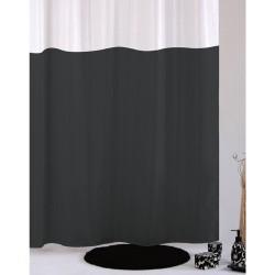 Κουρτίνα Μπάνιου Υφασμάτινη Import Hellas Dobblo Γκρι με Τρουξ 180 (Φ)x200 (Υ)