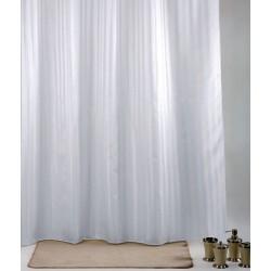 Κουρτίνα Μπάνιου Υφασμάτινη Import Hellas Rigone Άσπρη 180 (Φ)x200 (Υ)