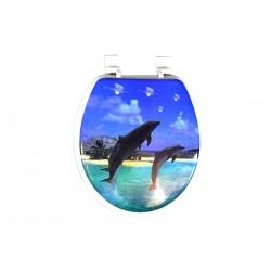 Καπάκι/Κάλυμμα Λεκάνης ΟΕΜ Μαλακό E1138-3 Δελφίνια