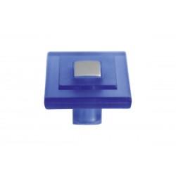 Πόμολο Επίπλων Τετράγωνο Malle N.3519-A Πλαστικό Μπλε