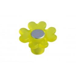 Πόμολο Επίπλων Λουλούδι Malle N.3524-AMA Πλαστικό Κίτρινο