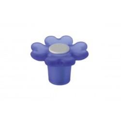 Πόμολο Επίπλων Λουλούδι Malle N.3524-CRM Πλαστικό Μπλε