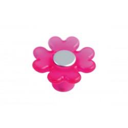 Πόμολο Επίπλων Λουλούδι Malle N.3524-MAG Πλαστικό Φουξ