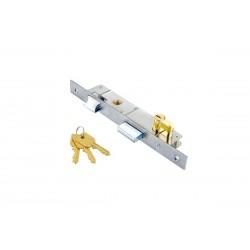 Κλειδαριά Domus Γλωσσού 20άρα 90120, με κύλινδρο 54χιλ. brass