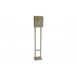 Επιδαπέδιο Σταχτοδοχείο Εξωτ. Χώρου Arte TS8002 Γκρι Συνολικού Ύψους 130 εκ.