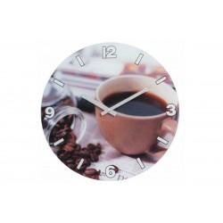 Ρολόι Τοίχου Μεταλλικό Import Hellas No2 Καφές