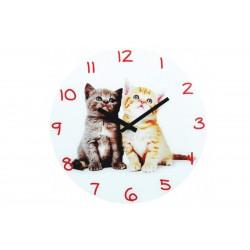Ρολόι Τοίχου Μεταλλικό Import Hellas No3 Γατάκια