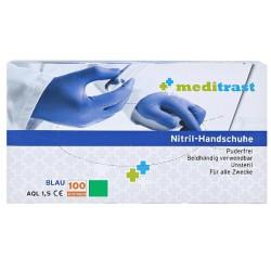 Γάντια Νιτριλίου Μπλε μιας Χρήσης Meditrast 100 τμχ