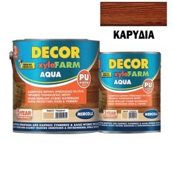 Προστατευτικό Βερνίκι Εμποτισμού για Ξύλα Mercola Βάσεως Νερού Decor Xylofarm Aqua Καρυδιά Ματ 750ml