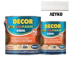 Προστατευτικό Βερνίκι Εμποτισμού για Ξύλα Mercola Βάσεως Νερού Decor Xylofarm Aqua Λευκό Ματ 750ml