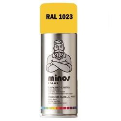 Ακρυλικό Σπρέι Βαφής Minos Ral 1023 Κίτρινο Διαγράμμισης 400ml