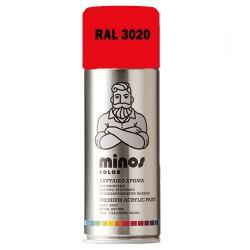 Ακρυλικό Σπρέι Βαφής Minos Ral 3020 Κόκκινο Διαγράμμισης 400ml