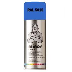 Ακρυλικό Σπρέι Βαφής Minos Ral 5015 Γαλάζιο Ουρανού 400ml