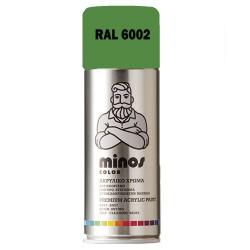 Ακρυλικό Σπρέι Βαφής Minos Ral 6002 Πράσινο 400ml