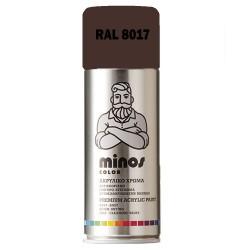 Ακρυλικό Σπρέι Βαφής Minos Ral 8017 Καφέ Σοκολατί 400ml