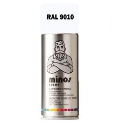 Ακρυλικό Σπρέι Βαφής Minos Ral 9010 Λευκό Γυαλιστερό 400ml