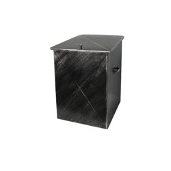 Ξυλοθήκη Μεταλλική Μεσαία Με Καπάκι No 102 37Μx54Υx44Β εκ