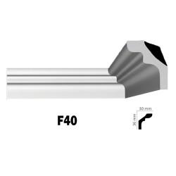 Διακοσμητική κορνίζα οροφής F40 2m από πολυστερίνη