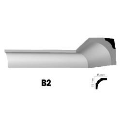 Διακοσμητική κορνίζα οροφής B2 2m από πολυστερίνη