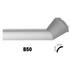 Διακοσμητική κορνίζα οροφής B50 2m από πολυστερίνη