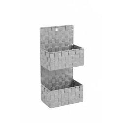 Εταζιέρα - Καλάθι πλεκτό Sidirela E-3590 2όροφη