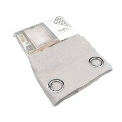 Κουρτίνα Παραθύρου Γάζα Sidi Home E-3704 Γκρί/Μπεζ 140x160 εκ. με Τρουξ