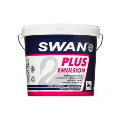 Ακρυλικό Χρώμα Swan Plus Emulsion Εσωτερικής και Εξωτερικής Χρήσης Λευκό 3Lt