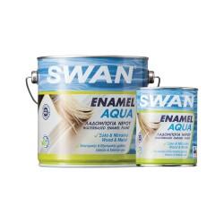 Βερνικόχρωμα Νερού - Ριπολίνη Swan για Ξύλα και Μέταλλα Λευκό Γυαλιστερό 750ml