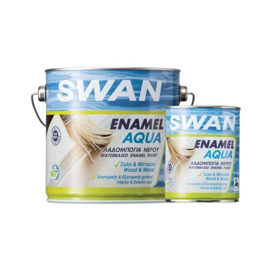 Βερνικόχρωμα Νερού - Ριπολίνη Swan για Ξύλα και Μέταλλα Λευκό Γυαλιστερό 2.5Lt